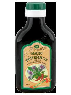 Репейное масло с перцем и эфирными маслами