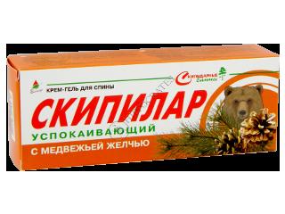 Эликсир Скипилар успокаивающий гель-крем для спины с медвежьей желчью