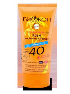 Биокон Солнцезащит.серия крем для загара SPF-40