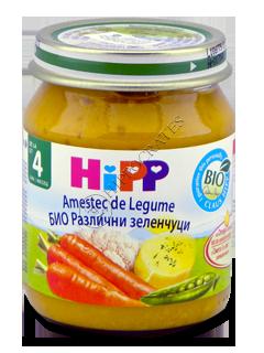 ХИПП Пюре овощное (морковь,капуста,картофель,горох)