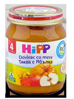 ХИПП Пюре фруктовое Тыква с яблоком (4 месяца)