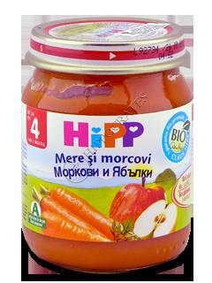 ХИПП Пюре фруктовое Яблоко с морковью (4 месяца)