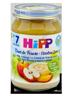 ХИПП Пюре фруктовое Яблоко, манго со сливочным сыром (7 месяцев)