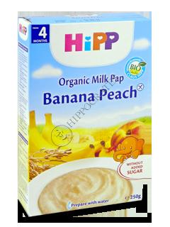 ХИПП Каша молочная Банан и персик (4 месяца)