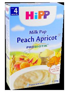 ХИПП Каша молочная с пребиотик.(персик,абрикос) (4 месяца)