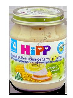 ХИПП Пюре Кукуруза с картоф.и индейкой (4 мес.)