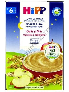 ХИПП Каша молочная Good Night (овес,яблоко) (6 месяцев)