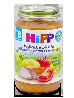 ХИПП Пюре цыплёнок с картофелем и помидорами (8 месяцев)