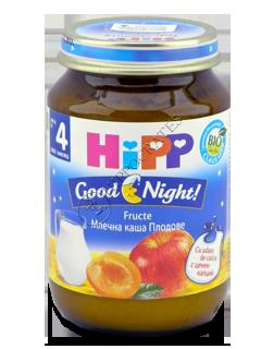 HIPP Piure Good Night cu fructe (4 luni)