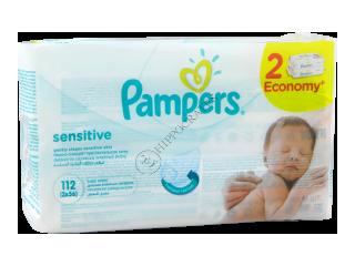 Памперс Baby Sensitive салфетки влажные № 2 x 56