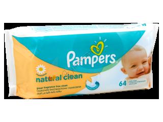 Памперс Baby Naturally Clean салфетки влажные с ромашкой № 64