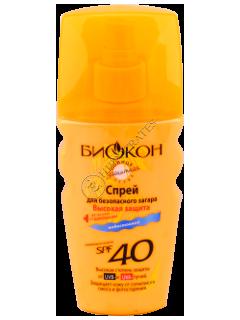 Биокон Солнцезащит.серия SPF-40  спрей для загара Высокая защита