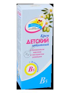 Эликсир крем-бальзам детский защитный с оливковым маслом и экстракт ромашки