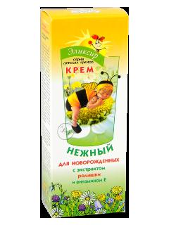 Эликсир крем-бальзам детский нежный с экстрактом ромашки и витамином Е