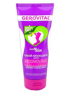 Gerovital Body Slim crema model abdomen plat