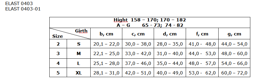 Mineca medicala elastica cu compresie 0403-01 LUX (23-32 mm) cu umar