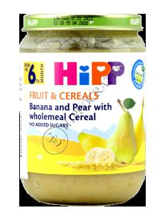 ХИПП Пюре из зерновых с фруктами и Бананом (6 месяцев)
