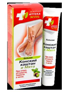 Biokon Dejurnaia Apteka Balsam Castane și Mentă la umflături, oboseala și greutate în picioare