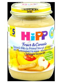 ХИПП Пюре Яблоко, банан (5 месяцев)