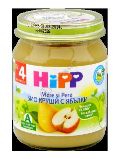 ХИПП Пюре фруктовое Груша и яблоко (4 месяца)