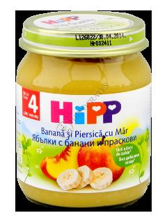 ХИПП Пюре фруктовое банан,персики и яблоки (6 месяцев)