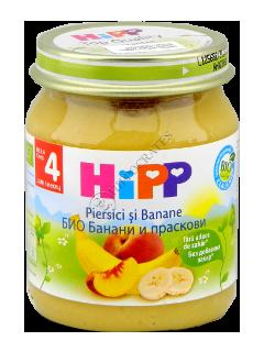 ХИПП Пюре фруктовое Персик и банан (4 месяца)