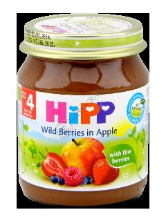 HIPP Piure de fructe, Mere si fructe de padure (4 luni)