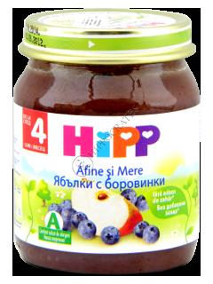 ХИПП Пюре фруктовое Черника и яблоко (4 месяца)