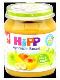 ХИПП Пюре фруктовое Абрикос с бананом (4 месяца)