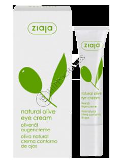 Ziaja Natural Olive. Crema de ochi cu extract natural de ulei de masline