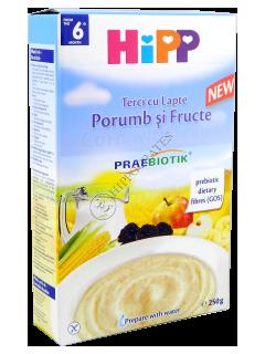 ХИПП Кукурузная молочная каша с фруктами