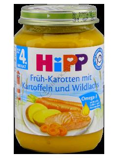 ХИПП пюре морковь ,картофель с семгой ( с 4 месяцев)
