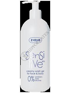 Ziaja Sensitive Crema-gel pentru spalarea fetei si corpului