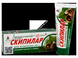 Эликсир Скипилар крем-гель для уставших ног с конским каштаном и хвощом