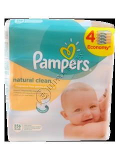 Памперс Baby Naturally Clean салфетки влажные с ромашкой №  4 x 64