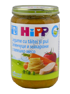 HIPP Пюре овощи макароны м курицей