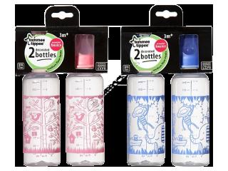 ТТ Бутылочка с рисунком Basics (3+) 250 мл 2 шт.(розовый)/43172030