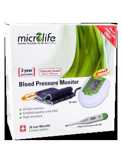 Микролайф BP 3 AG1 Green измеритель давл.автомат.+ MT термометр + адаптор