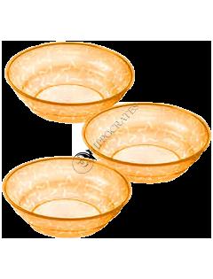 ТТ Детские тарелки 3 шт. (12+) (цвет оранжевый)/43031610/