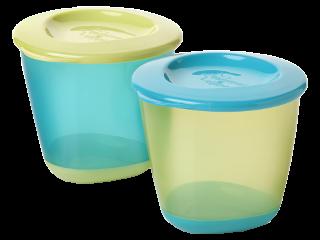 ТТ Контейнеры для хранения еды 2 шт. (синий+зелёный)/44650271/