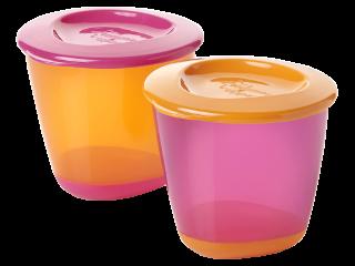 ТТ Контейнеры для хранения еды 2 шт. (розовый+оранжевый)/44650271/