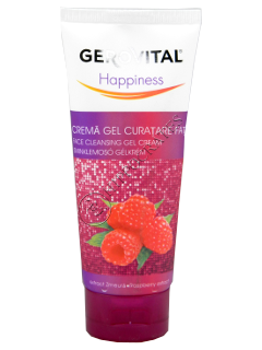 Gerovital Happiness crema-gel curatare fata extract zmeura (ten normal)
