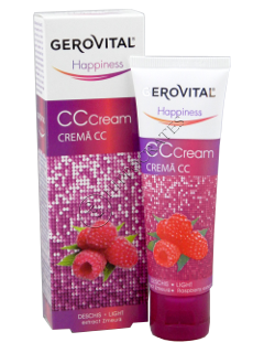 Gerovital Happiness crema CC (deschis) extract zmeura