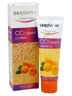 Gerovital Happiness crema CC (mediu) extract caise