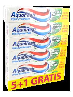 Зубная паста Аквафреш Mild and Minty 5 + 1