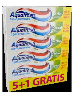 Зубная паста Аквафреш Herbal 5+1