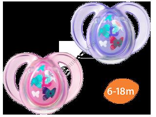 TT Suzeta ortodontica Anytime silicon (6-18 luni) 2 buc.(violet+roz)/43336463/