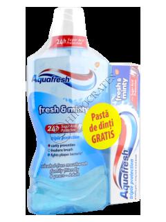 Ополаскиватель для пол. рта Аквафреш FreshMinty без спирта+Зубная паста Аквафреш FreshMinty