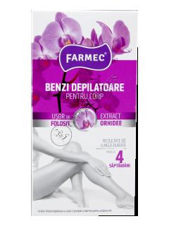 Фармек депиляционные полоски для тела с экстрактом орхидеи (14 полосок+2 салфетки)