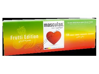 Prezerv MASCULAN FRUTTI EDITION (capsuna+mar verde)